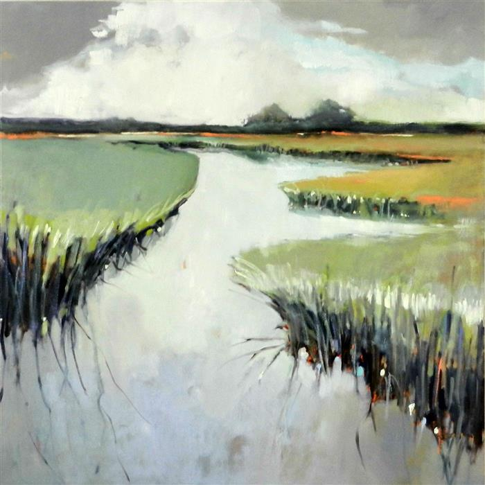 Discover Original Art by Mary Pratt | Light in Marsh oil painting | Art for Sale Online at UGallery