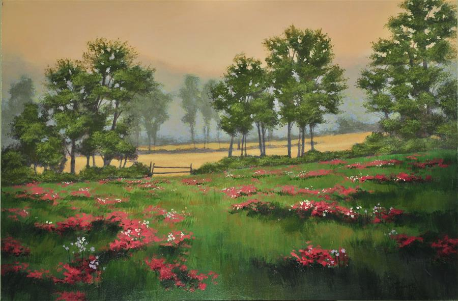 Discover Original Art by Robert Pennor | Fields acrylic painting | Art for Sale Online at UGallery
