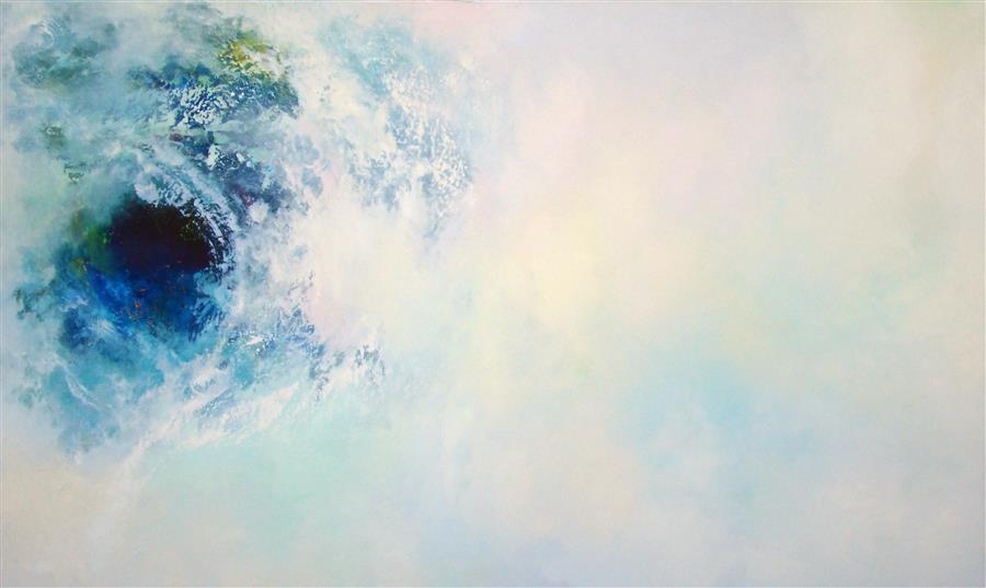 Original art for sale at UGallery.com | Selah - Vortex by WES SUMRALL | $4,050 | Oil painting | 36' h x 60' w | http://www.ugallery.com/oil-painting-selah-vortex