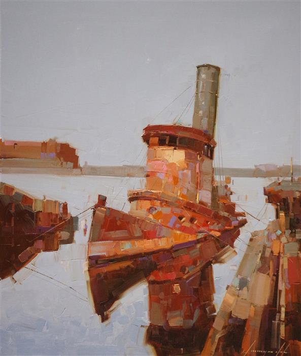 Discover Original Art by Vahe Yeremyan | The Tug oil painting | Art for Sale Online at UGallery