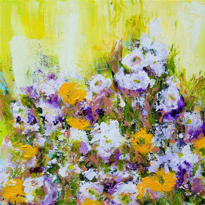 Discover Original Art by Allan P Friedlander | Bois de Vincennes Garden acrylic painting | Art for Sale Online at UGallery