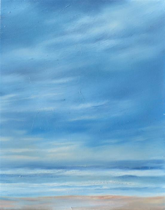 Discover Original Art by Kelly Money | Beach in Cape Cod oil painting | Art for Sale Online at UGallery