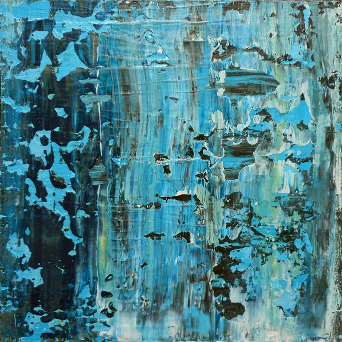 Original art for sale at UGallery.com | Abrasion Bleue by LISA CARNEY | $300 | Acrylic painting | 12' h x 12' w | http://www.ugallery.com/acrylic-painting-abrasion-bleue