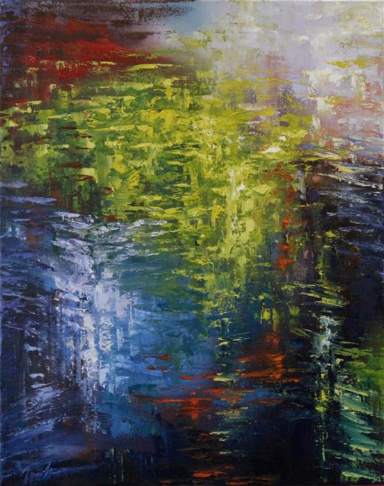 Discover Original Art by Naoko Paluszak | Reflection IV oil painting | Art for Sale Online at UGallery