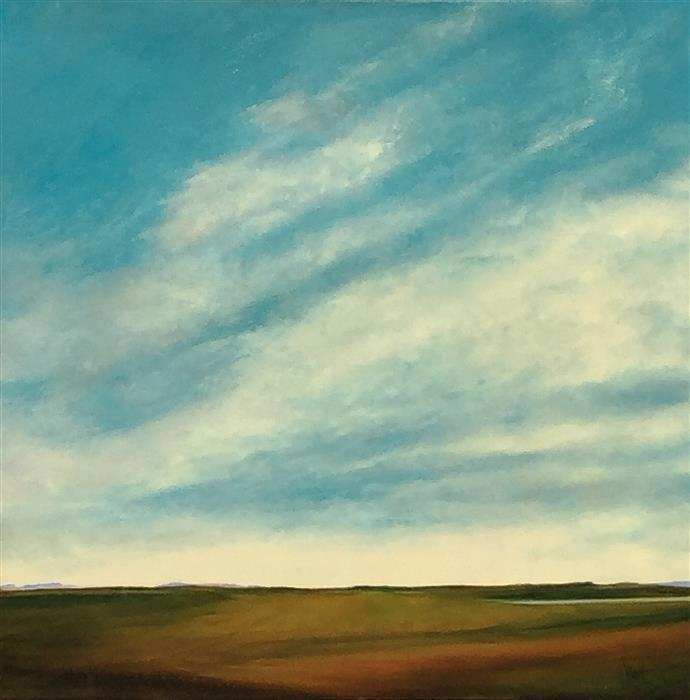 Discover Original Art by Mandy Main   Field in Spring oil painting   Art for Sale Online at UGallery