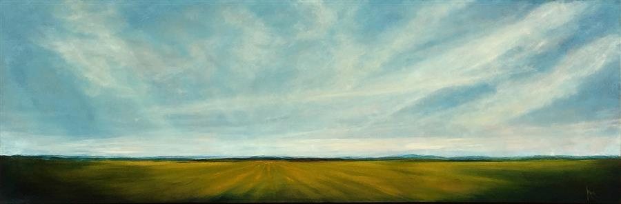 Discover Original Art by Mandy Main | Field in Spring III oil painting | Art for Sale Online at UGallery