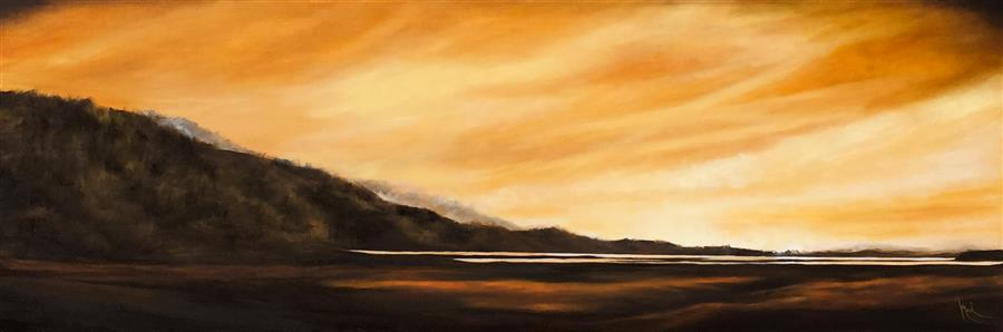 Discover Original Art by Mandy Main | Siletz Bay X oil painting | Art for Sale Online at UGallery