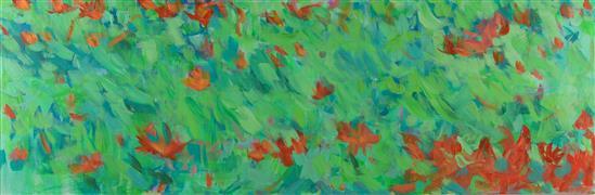 Impressionism art,Flora art,Representational art,acrylic painting,Writing on Stones