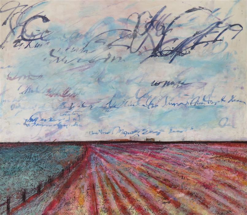 Original art for sale at UGallery.com | Zip a Dee Doo Dah by TERI MUSE | $2,820 | Encaustic artwork | 42' h x 48' w | http://www.ugallery.com/encaustic-artwork-zip-a-dee-doo-dah