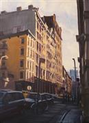 Architecture art,Impressionism art,Travel art,Representational art,oil painting,Soho Afternoon