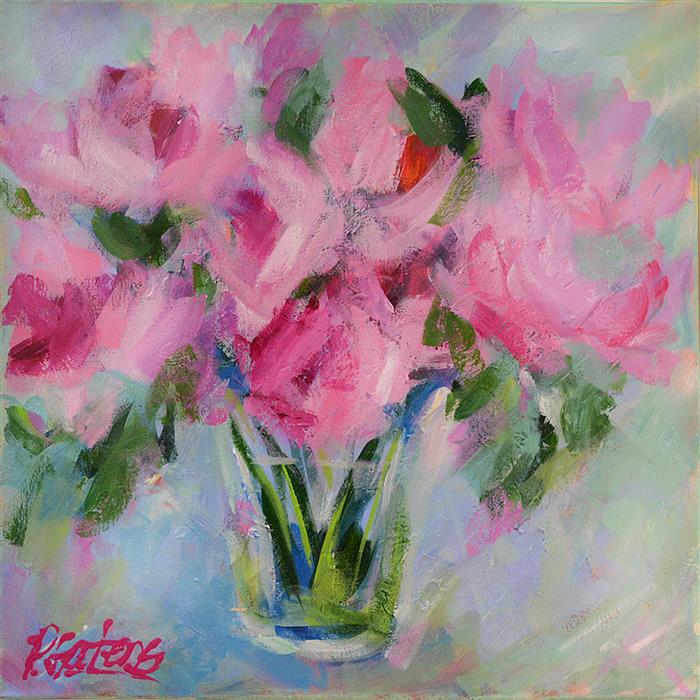 Discover Original Art by Pamela Gatens | Think Pink! acrylic painting | Art for Sale Online at UGallery
