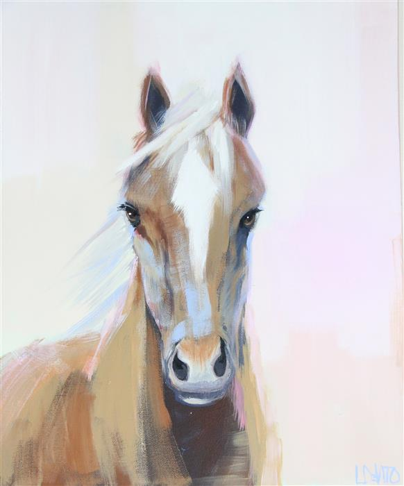 Original art for sale at UGallery.com | Gigi by LESLI DEVITO | $775 | Acrylic painting | 20' h x 16' w | http://www.ugallery.com/acrylic-painting-gigi