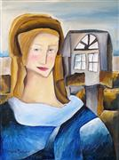 Expressionism art,Fantasy art,People art,Representational art,oil painting,The Young Girl