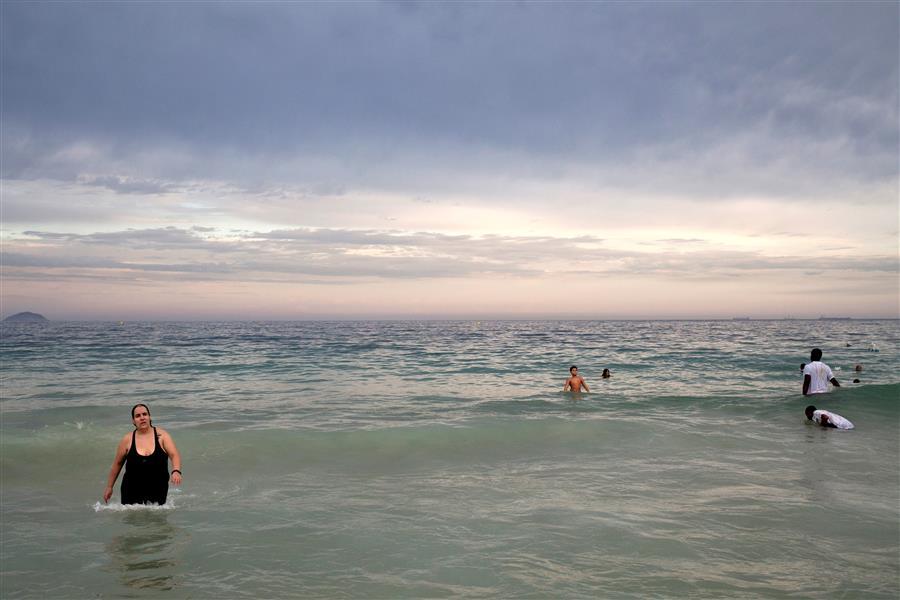 Original art for sale at UGallery.com | Copacabana Beach by MARCELO ARGOLO | $245 |  | ' h x ' w | http://www.ugallery.com/photography-copacabana-beach