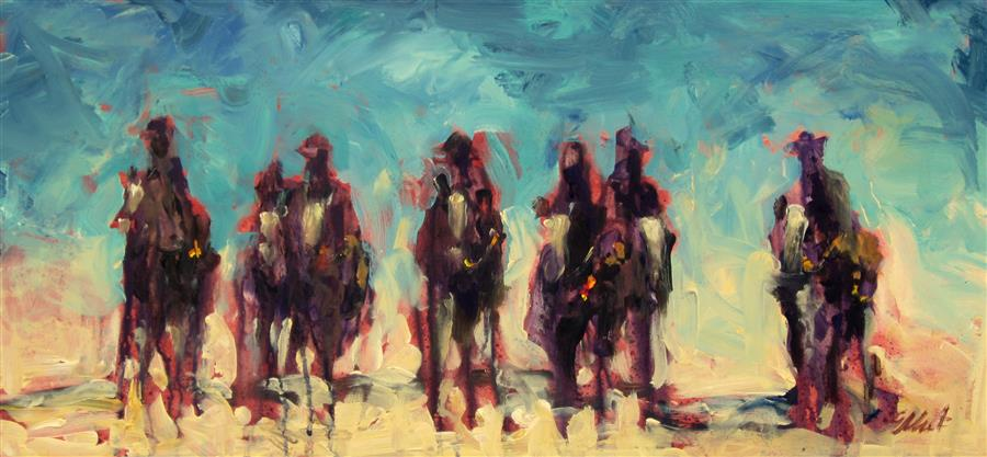 Discover Original Art by Elliot Coatney | Dripping Horses 16-A acrylic painting | Art for Sale Online at UGallery