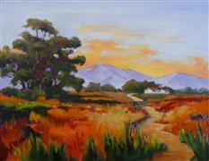 Impressionism art,Landscape art,Representational art,oil painting,Summer Sky