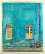 Architecture art,Impressionism art,Travel art,Representational art,watercolor painting,Teal Travels