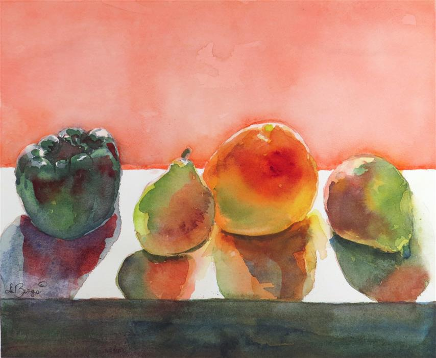 Discover Original Art by Nancy Muren | Natural Fruit watercolor painting | Art for Sale Online at UGallery
