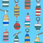 Pop art,Representational art,Modern  art,acrylic painting,Lets Hear it for the Buoys