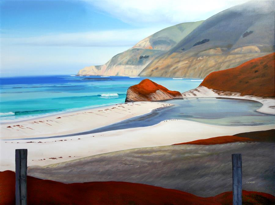Discover Original Art by Tom De Walt | Big Sur Coast oil painting | Art for Sale Online at UGallery