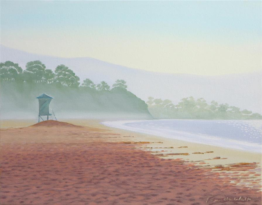 Original art for sale at UGallery.com | East Beach Tower by TOM DE WALT | $800 | Oil painting | 11' h x 14' w | http://www.ugallery.com/oil-painting-east-beach-tower