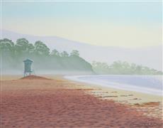 Seascape art,Representational art,Modern  art,oil painting,East Beach Tower