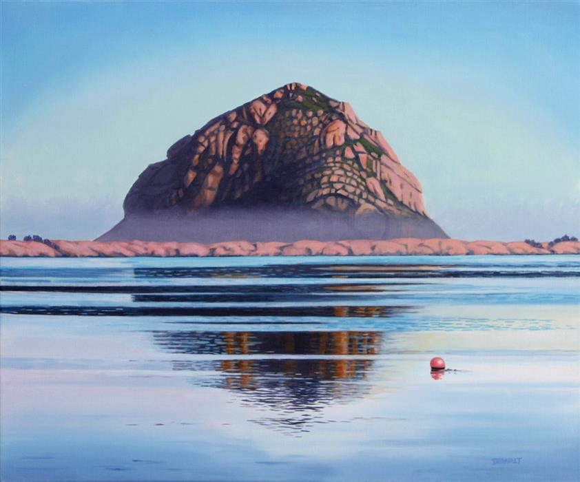 Discover Original Art by Tom De Walt | Morro Rock oil painting | Art for Sale Online at UGallery