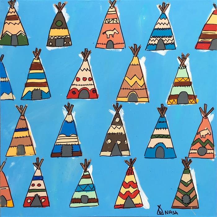 Discover Original Art by Brian Nash | Tee Pees acrylic painting | Art for Sale Online at UGallery