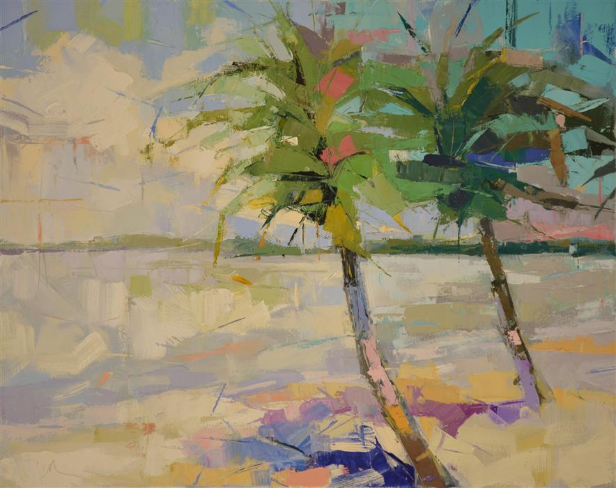 Discover Original Art by Kim McAninch | Palms II oil painting | Art for Sale Online at UGallery