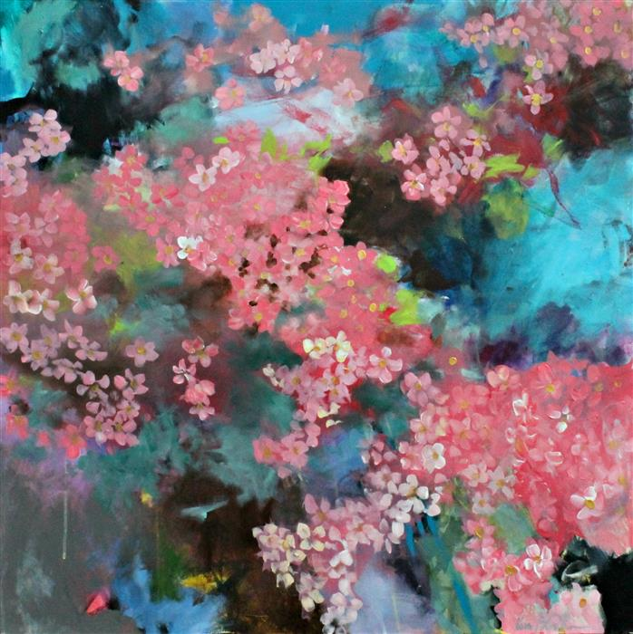 Discover Original Art by Kerri  Blackman | Cherry Blossoms acrylic painting | Art for Sale Online at UGallery