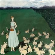 Animals art,People art,Surrealism art,Representational art,acrylic painting,Prim & Proper