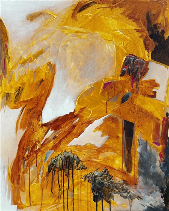 Discover Original Art by Robert Morrow | Caverns acrylic painting | Art for Sale Online at UGallery