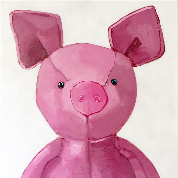 Original art for sale at UGallery.com | Pink Pig by NICOLE NEWSTED | $1,300 | Acrylic painting | 20' h x 20' w | http://www.ugallery.com/acrylic-painting-pink-pig