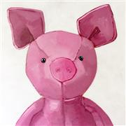 Animals art,Pop art,Representational art,acrylic painting,Pink Pig