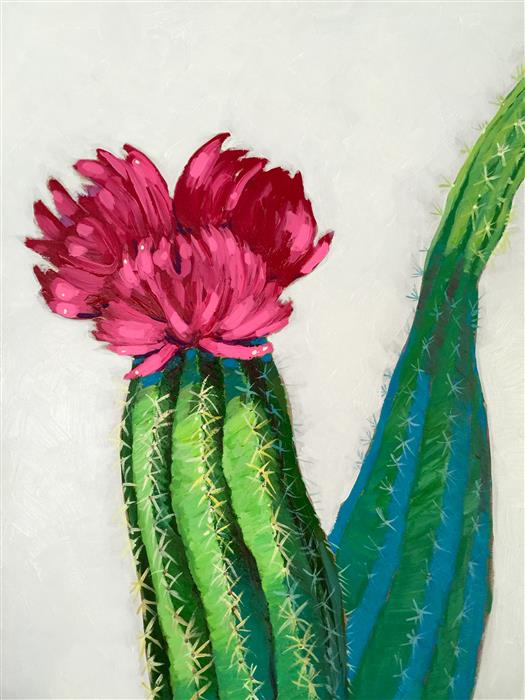 Discover Original Art by Nicole Newsted | Flowering Cactus acrylic painting | Art for Sale Online at UGallery