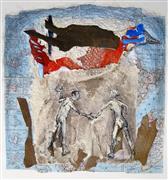 Animals art,Nature art,People art,Street Art art,Representational art,mixed media artwork,Bird of Paradise