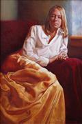 People art,Realism art,Representational art,oil painting,At Ivy Ranch