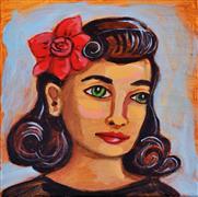 People art,Fashion art,Representational art,acrylic painting,Veronica