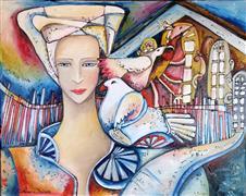 Fantasy art,Animals art,People art,Representational art,oil painting,The Shelter