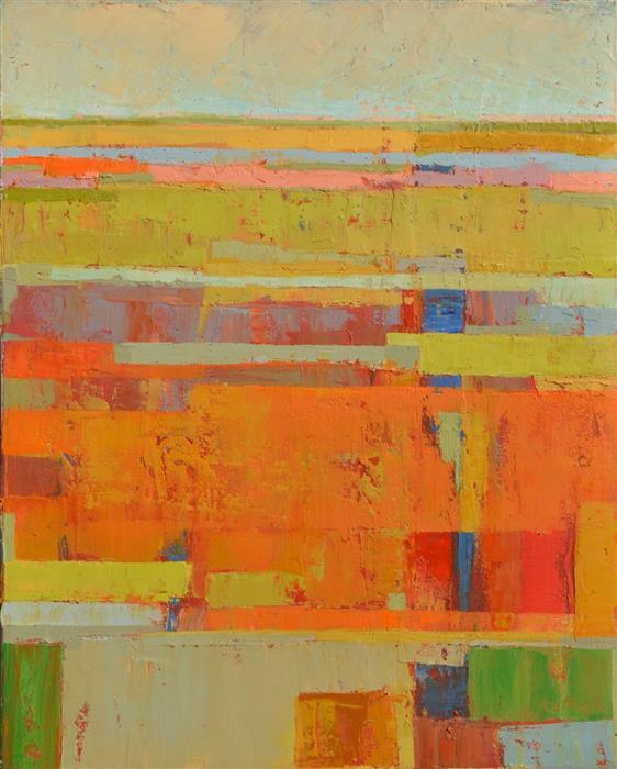Discover Original Art by Srinivas Kathoju | Red Fields oil painting | Art for Sale Online at UGallery