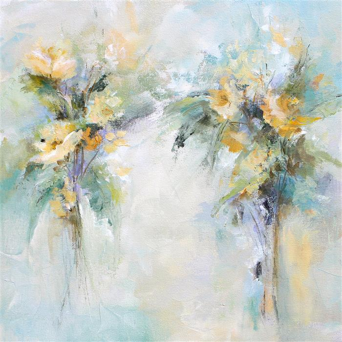 Original art for sale at UGallery.com | A Soft Approach by KAREN HALE | $1,300 | Acrylic painting | 24' h x 24' w | http://www.ugallery.com/acrylic-painting-a-soft-approach