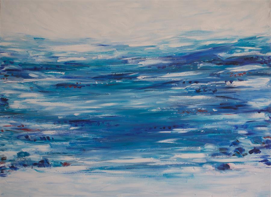 Discover Original Art by Kajal Zaveri | Ocean Front oil painting | Art for Sale Online at UGallery