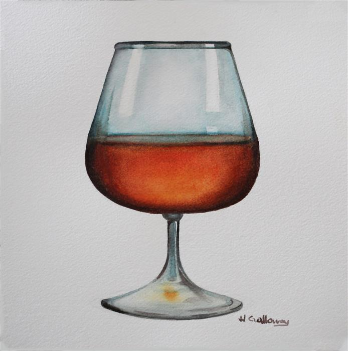 Original art for sale at UGallery.com | Rum by JJ GALLOWAY | $150 | Watercolor painting | 7.5' h x 7.5' w | http://www.ugallery.com/watercolor-painting-rum
