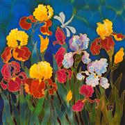 Fantasy art,Flora art,Representational art,mixed media artwork,Iris Explosion
