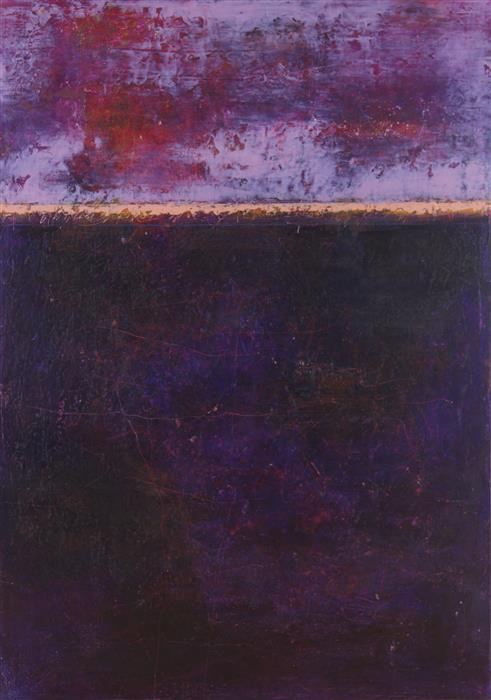 Original art for sale at UGallery.com | Listen to the Sunset n°5 by LINDA COPPENS | $850 | Oil painting | 27.6' h x 19.7' w | http://www.ugallery.com/oil-painting-listen-to-the-sunset-n-5