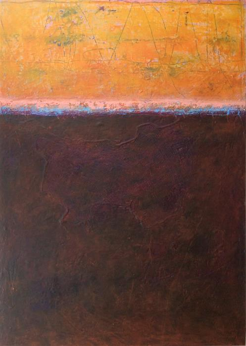 Original art for sale at UGallery.com | Listen to the Sunset n°6 by LINDA COPPENS | $850 | Oil painting | 27.6' h x 19.7' w | http://www.ugallery.com/oil-painting-listen-to-the-sunset-n-6