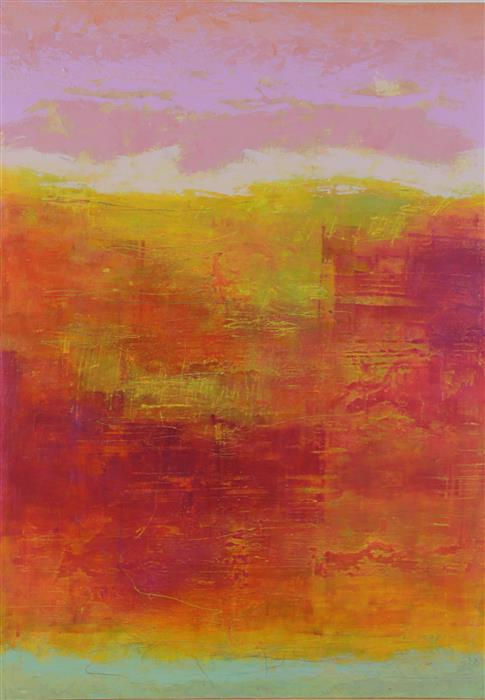 Original art for sale at UGallery.com | Listen to the Sunset n°7 by LINDA COPPENS | $850 | Oil painting | 27.6' h x 19.7' w | http://www.ugallery.com/oil-painting-listen-to-the-sunset-n-7