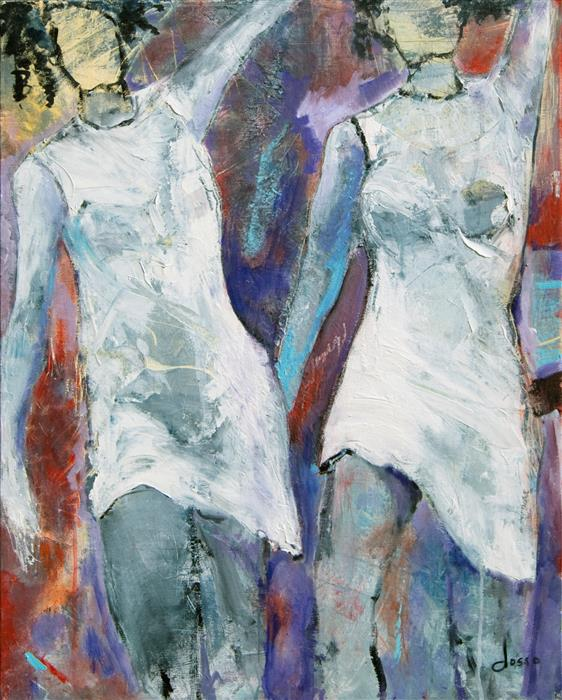 Discover Original Art by Anne Dosso-Powell | Soul Sisters oil painting | Art for Sale Online at UGallery