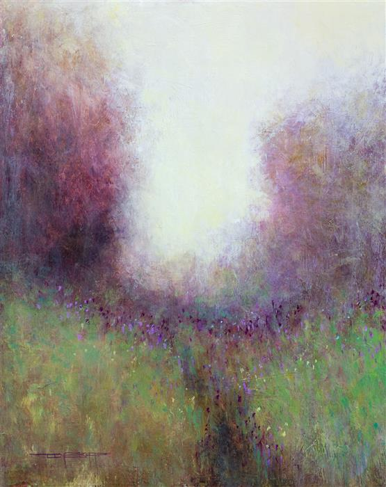 Original art for sale at UGallery.com | Misty Trail by DON BISHOP | $575 | Acrylic painting | 20' h x 16' w | http://www.ugallery.com/acrylic-painting-misty-trail