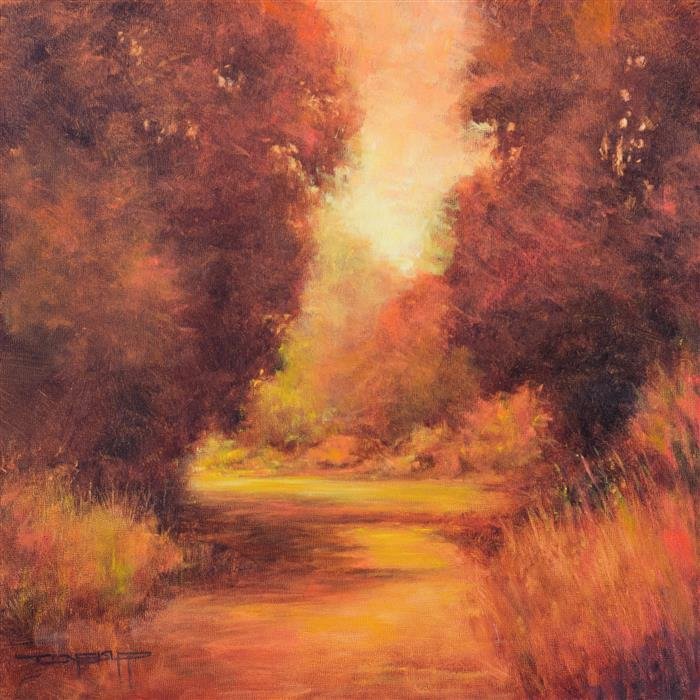 Original art for sale at UGallery.com | Afternoon Glow by DON BISHOP | $875 | Oil painting | 16' h x 16' w | http://www.ugallery.com/oil-painting-afternoon-glow
